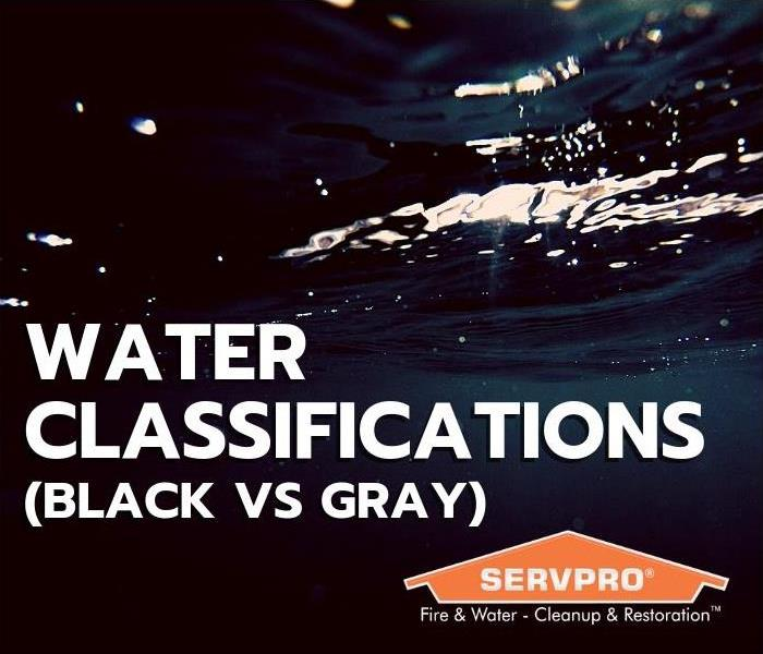 Water Damage Water Classifications - Black vs Gray